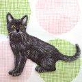 アップリケワッペン黒猫
