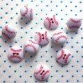 アメリカ ボタンガローア ボタン10個セット-野球ボール