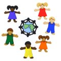 アメリカ Dress it Upボタン 7個-世界の子どもたち