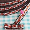 ドイツファーベミクス 刺繍リボン 1m-タイガーフェイス グレー